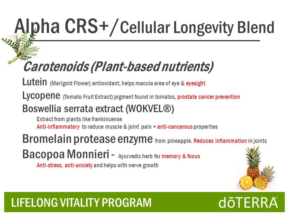 Carotenoids (Plant-based nutrients) Lutein (Marigold Flower) antioxidant, helps macula area of eye & eyesight Lycopene (Tomato Fruit Extract) pigment