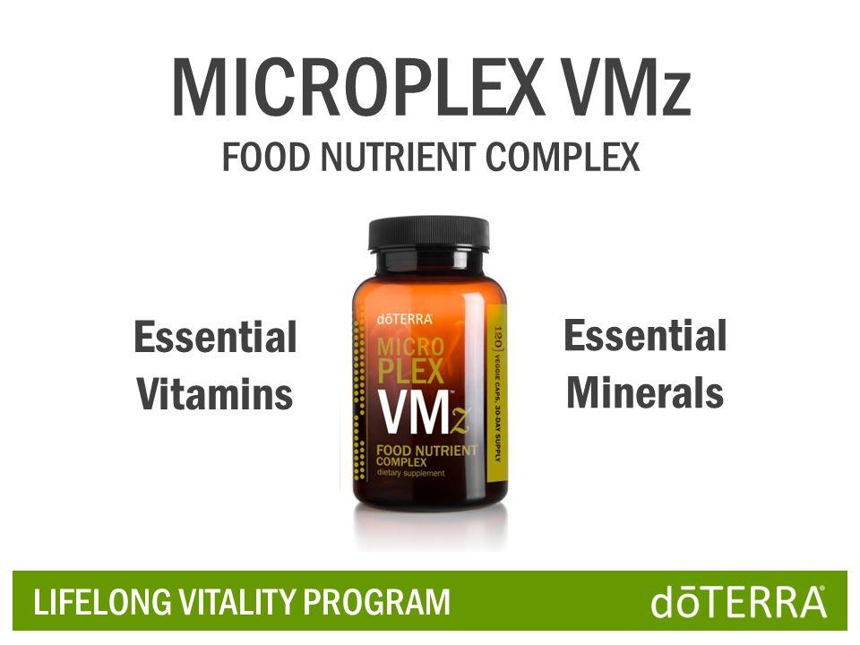 LIFELONG VITALITY PROGRAM Essential Vitamins Essential Minerals MICROPLEX VMz FOOD NUTRIENT COMPLEX