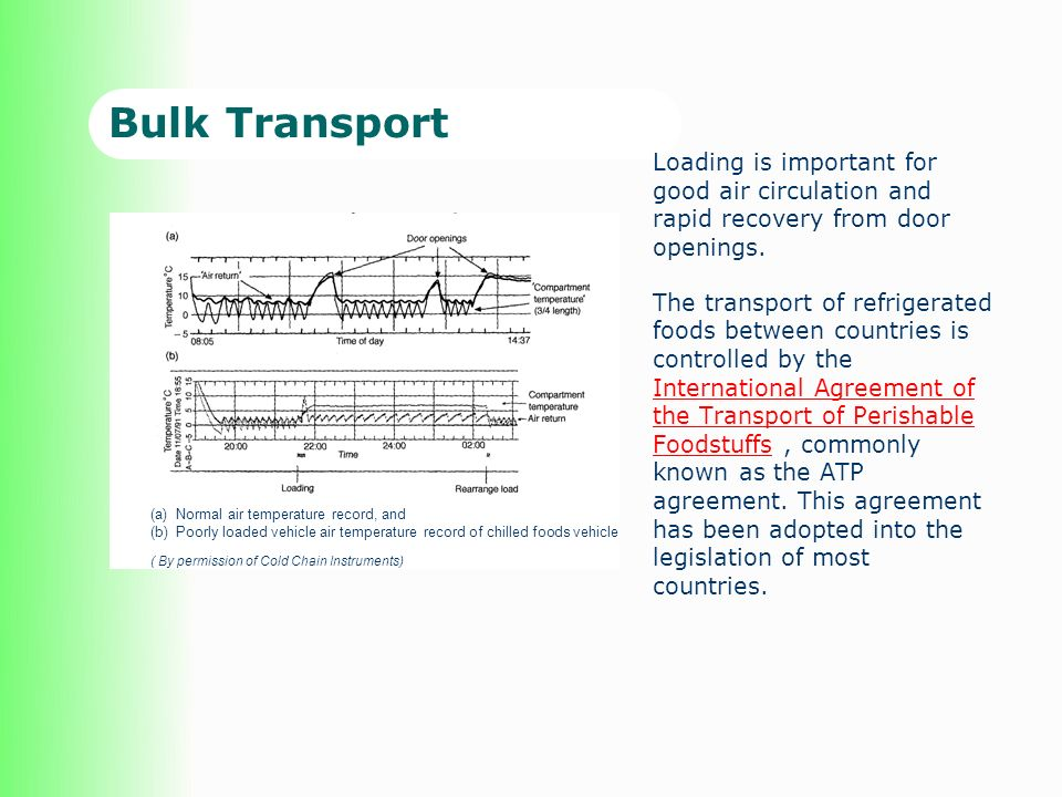 Bulk Transport Loading is important for good air circulation and rapid recovery from door openings.