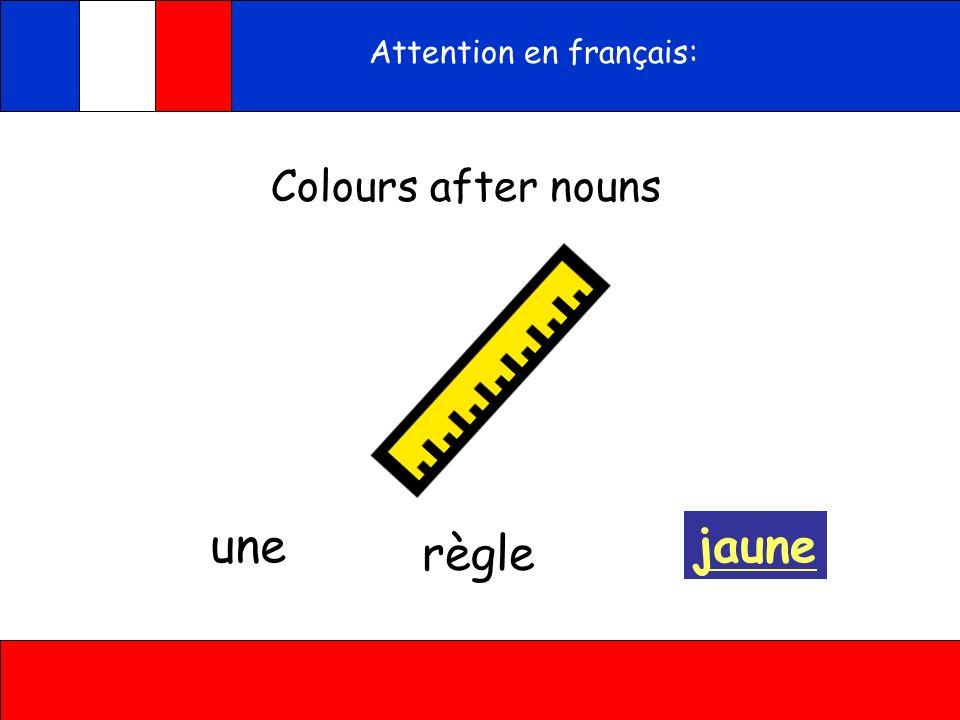 violet bleu gris LeLa Attention In French words are either masculine (le) or feminine (la) violette bleue grise Ecoute