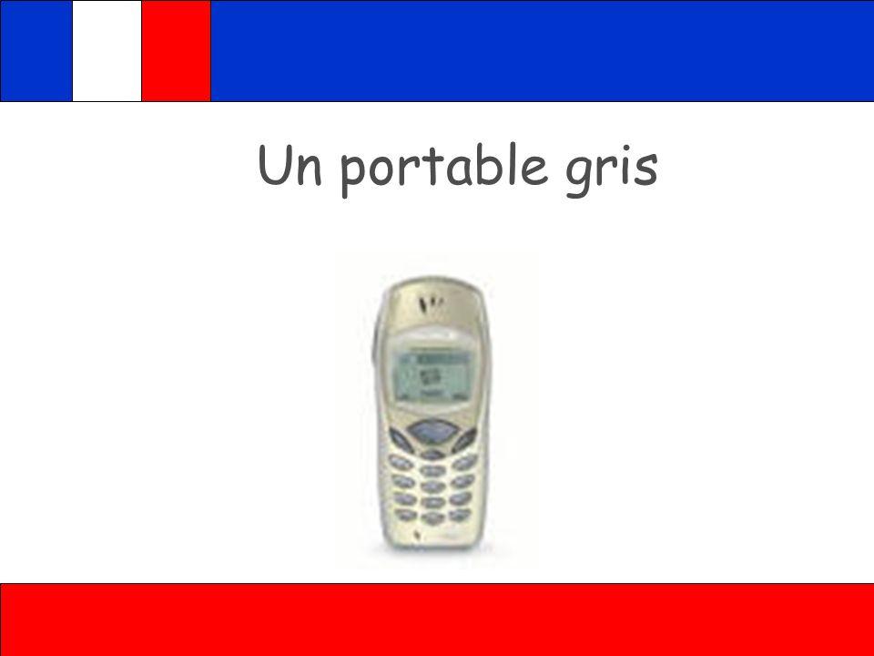 Attention en français: Colours after nouns unejaune règle