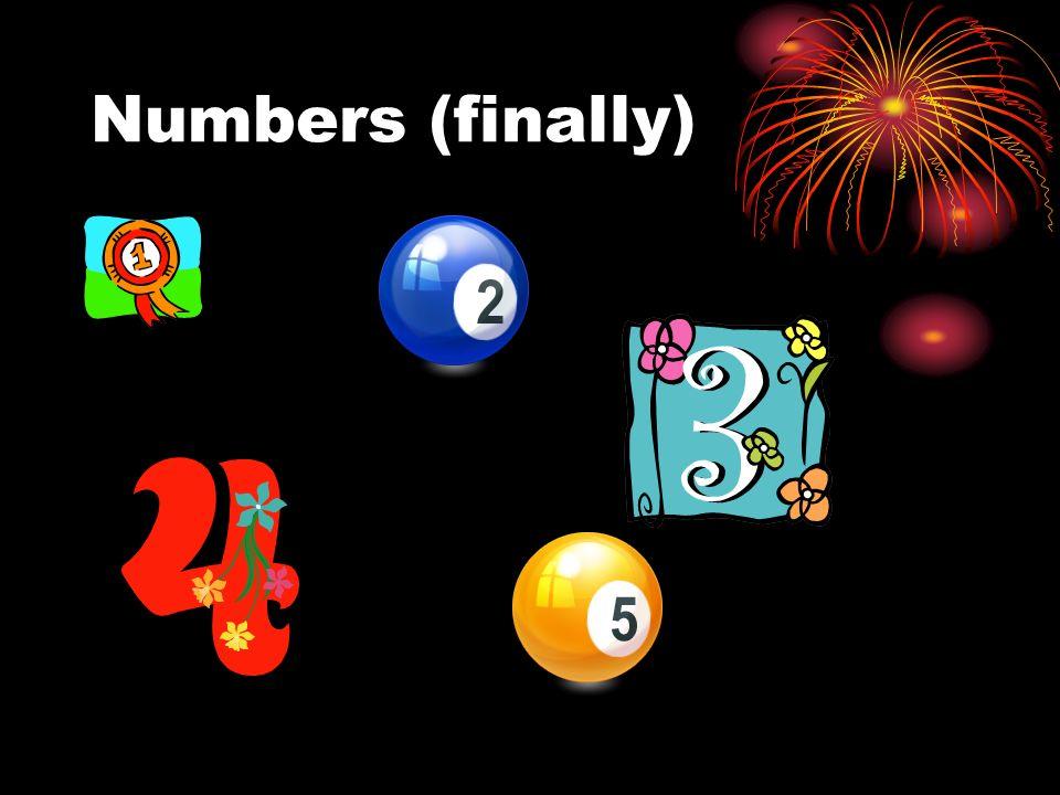 cinq quatre undeux Numbers (finally) trois