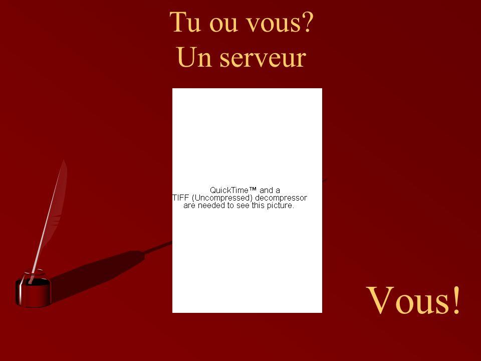 Tu ou vous? Un serveur Vous!