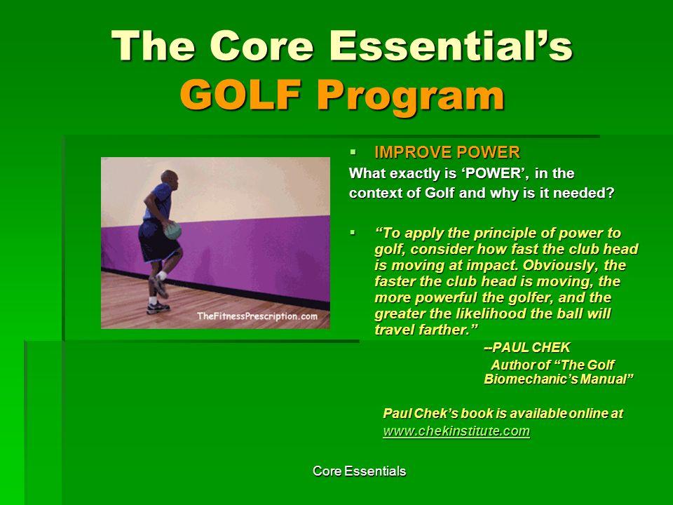 Core Essentials STABILIZATION EXERCISES Exercise # 8 External Rotation1/2 kneeling