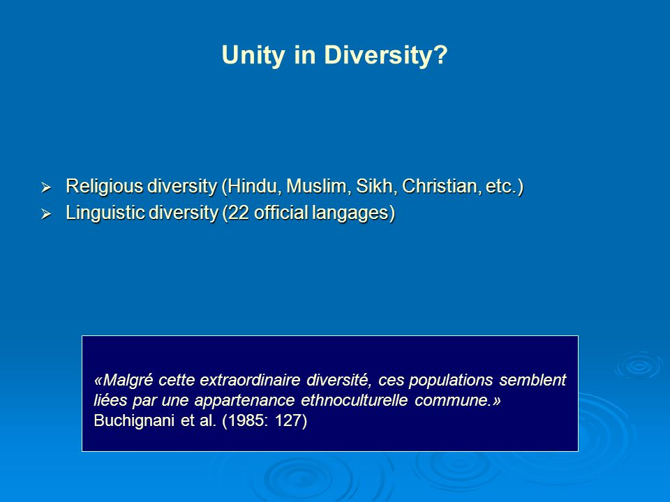 Socio-demographic Datas on the Persons of Indian Origins