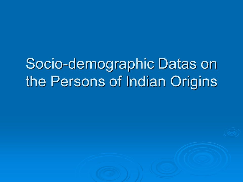 Persons of Indian Origin in Canada and Some Metropolitan Areas Canadian Census 2001