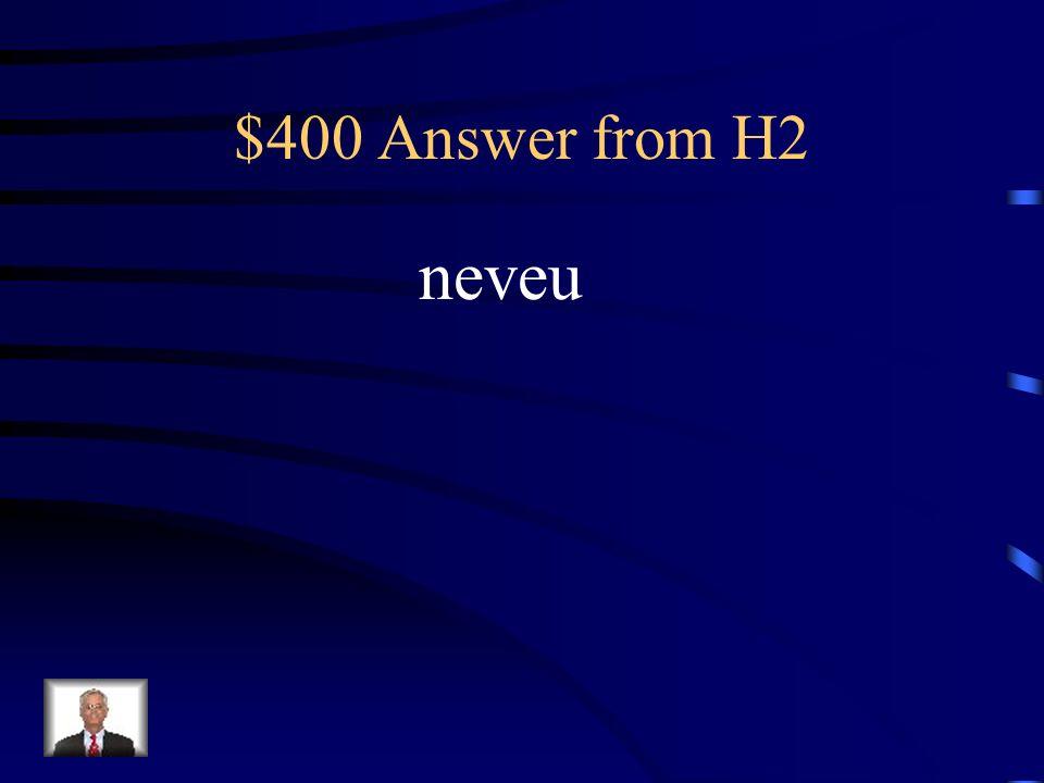 $400 Question from H2 Le fils de mon frère cest mon …