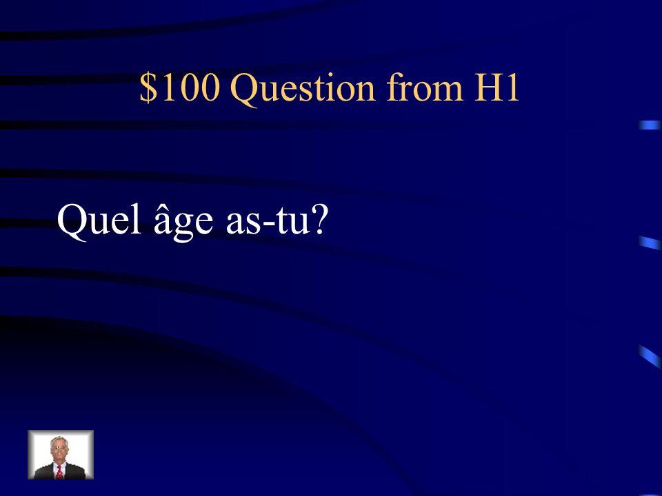 Jeopardy identitéLa familleLes accentsLes nombres Les verbes Q $100 Q $200 Q $300 Q $400 Q $500 Q $100 Q $200 Q $300 Q $400 Q $500 Final Jeopardy