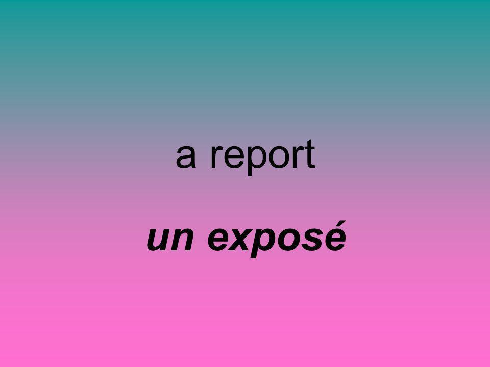 a report un exposé