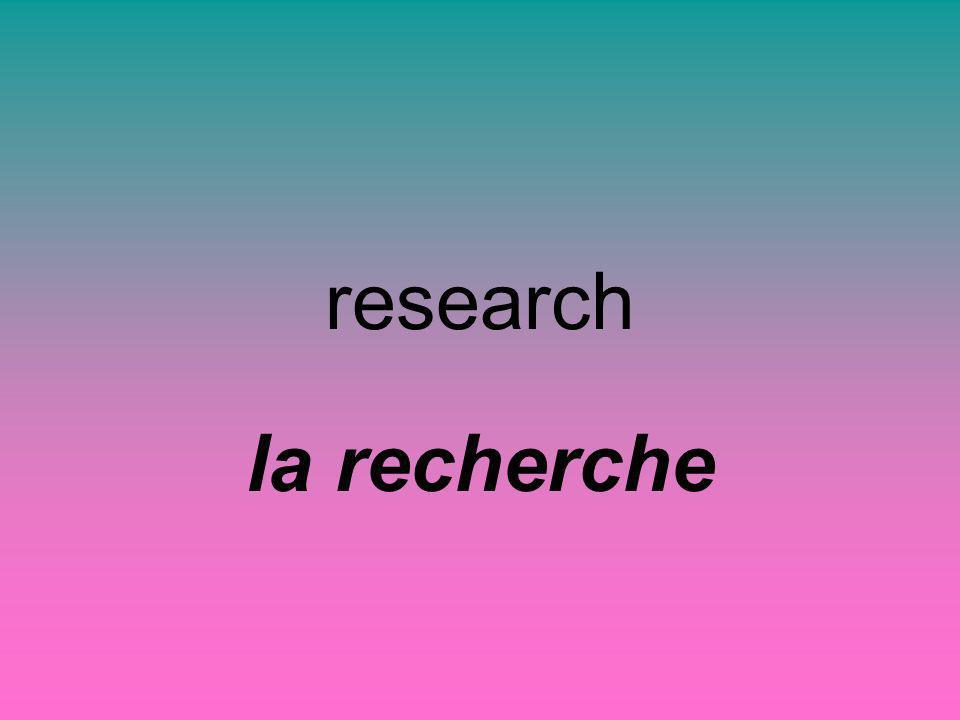 research la recherche