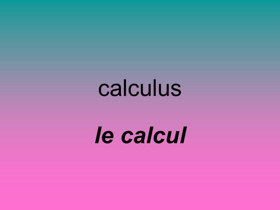 calculus le calcul