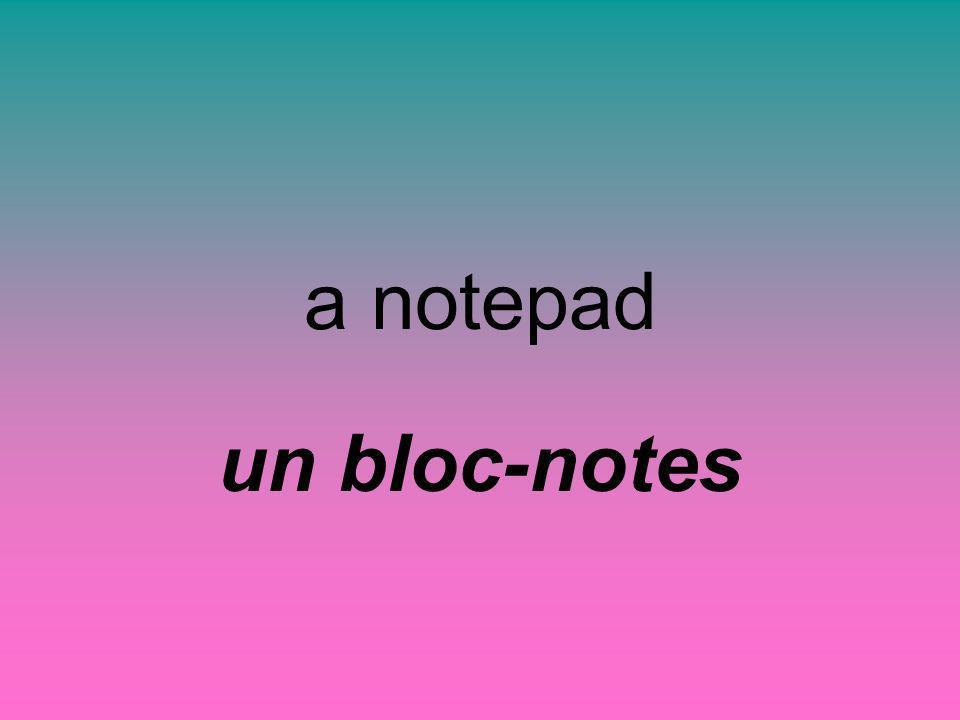 a notepad un bloc-notes