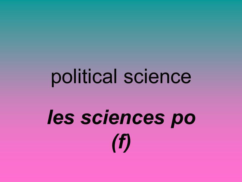 political science les sciences po (f)