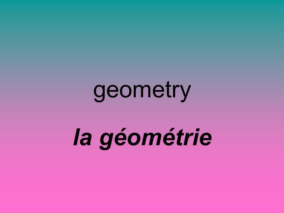 geometry la géométrie