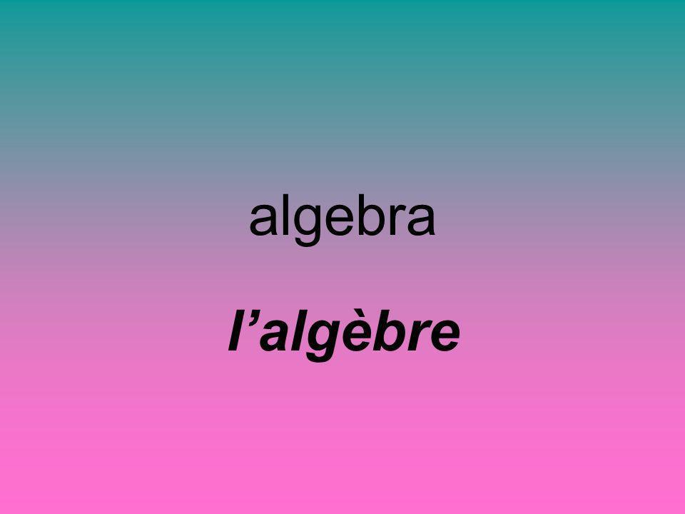algebra lalgèbre