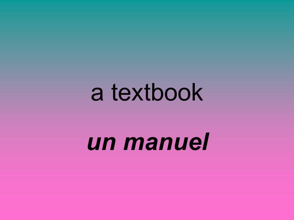 a textbook un manuel