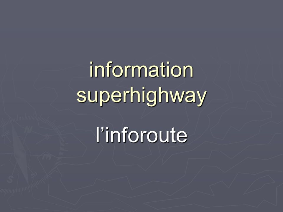 information superhighway linforoute