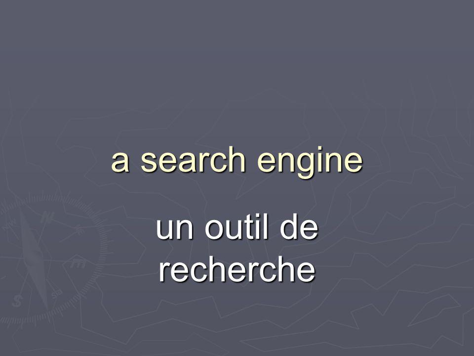 a search engine un outil de recherche