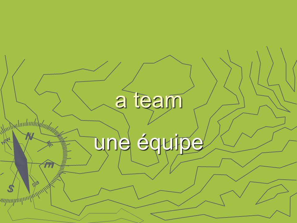 a team une équipe