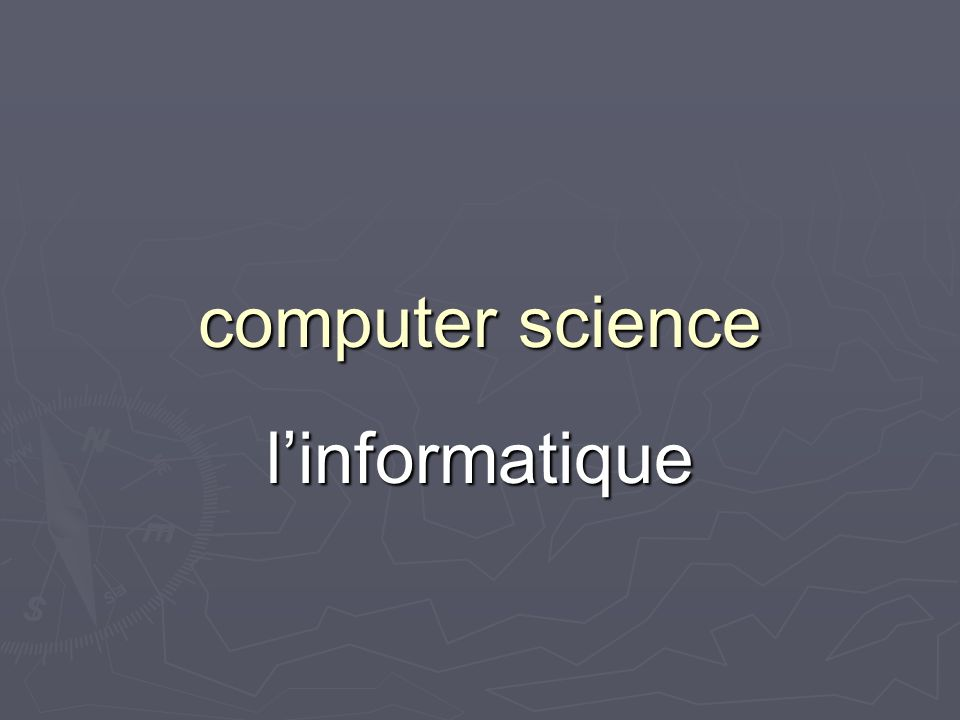 computer science linformatique