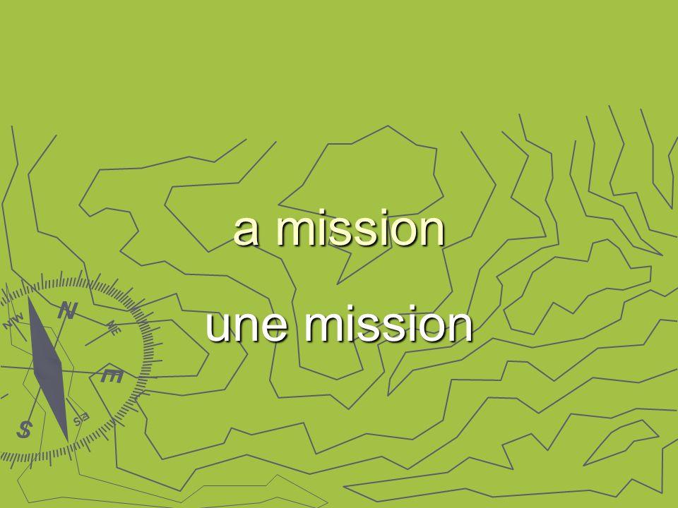 a mission une mission