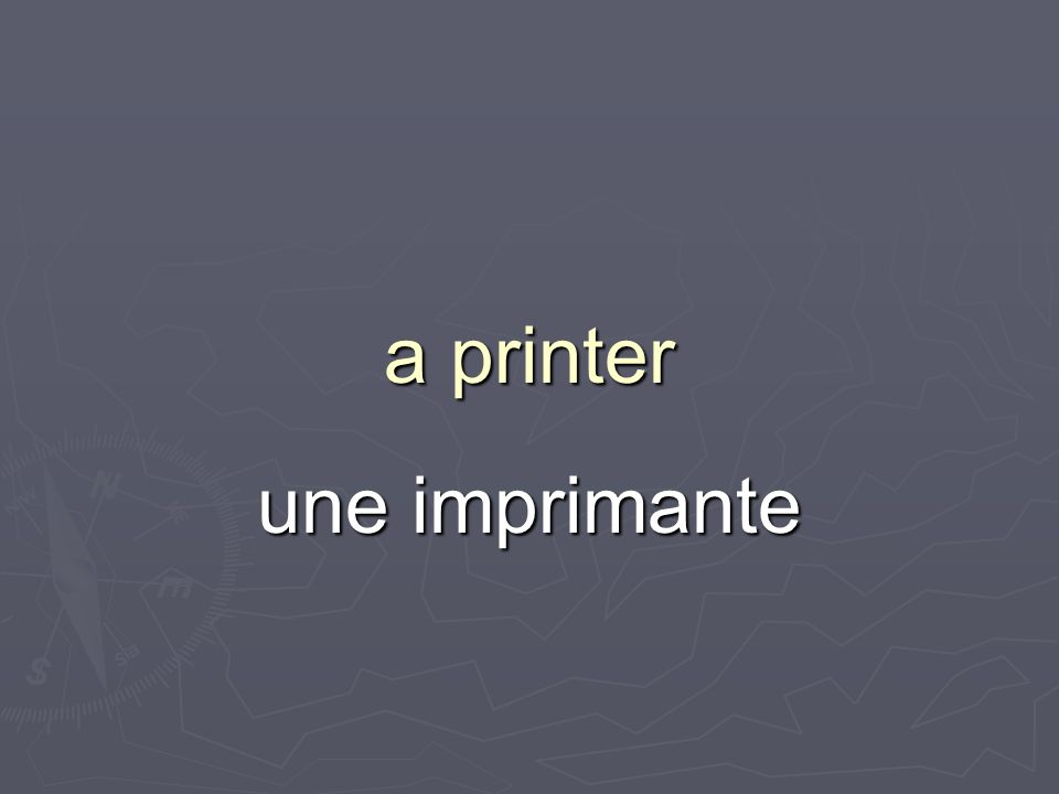 a printer une imprimante
