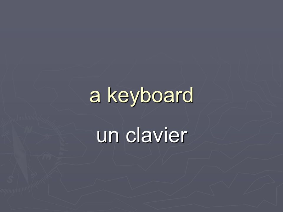 a keyboard un clavier