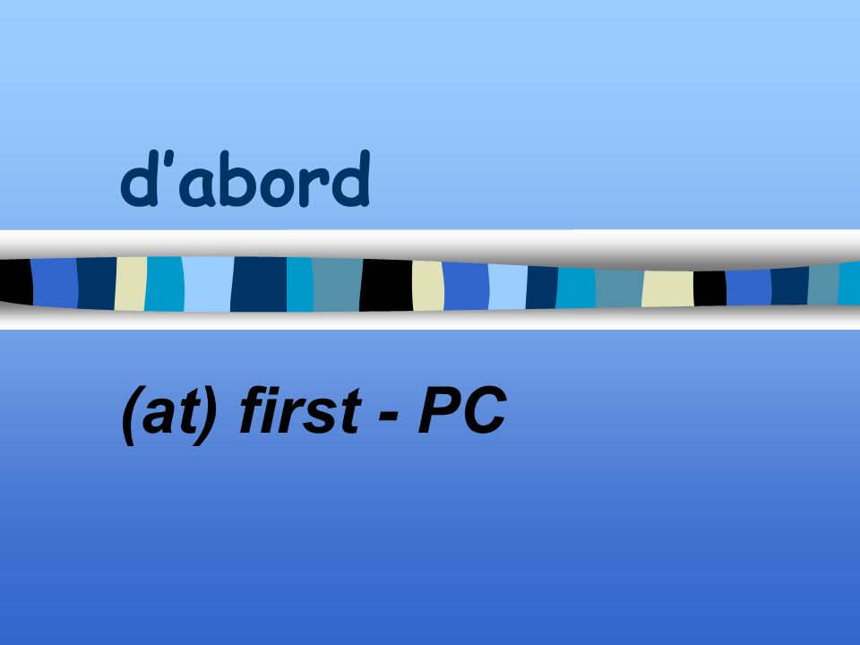 dabord (at) first - PC