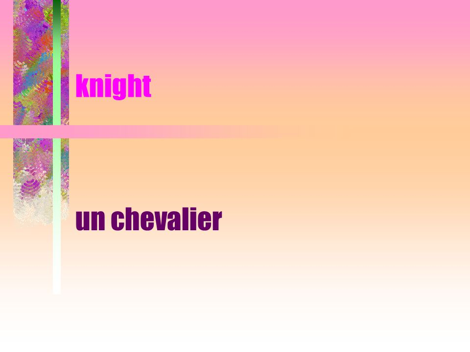knight un chevalier