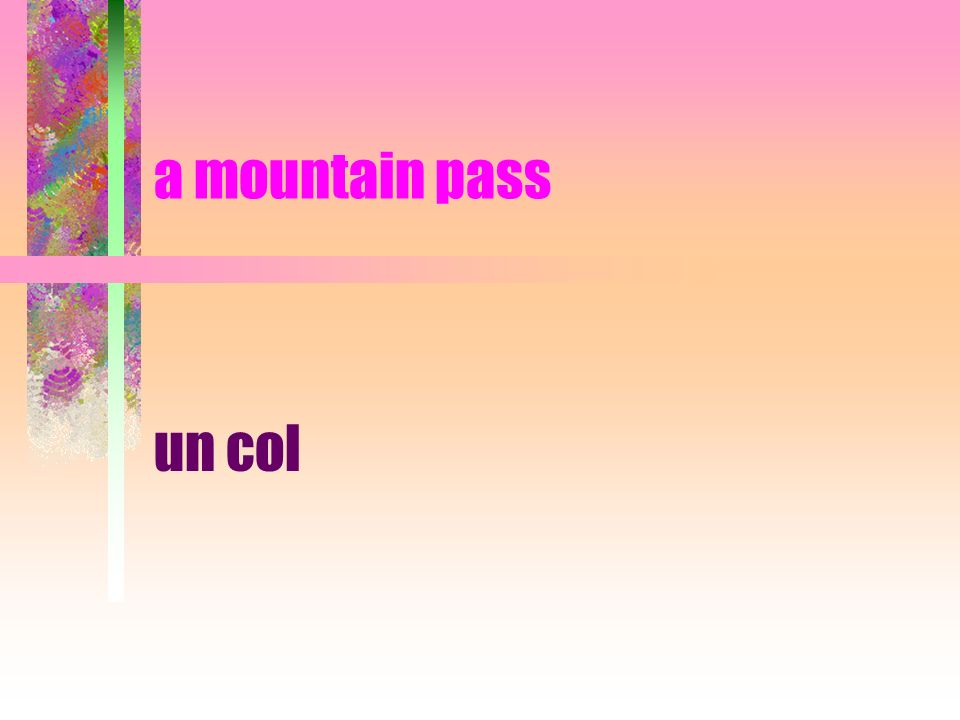 a mountain pass un col