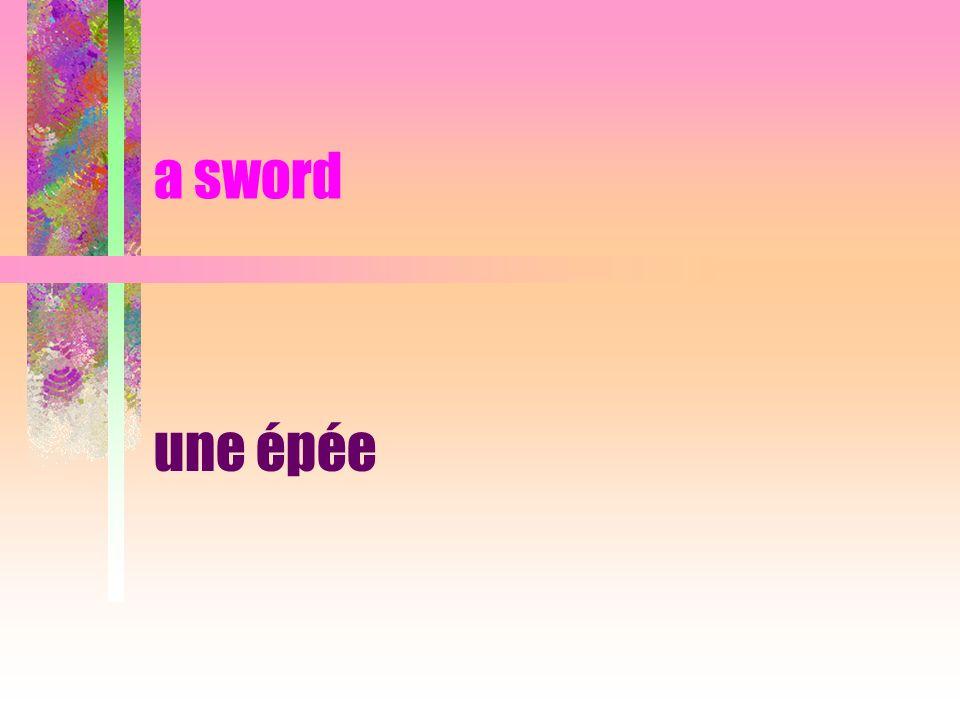a sword une épée