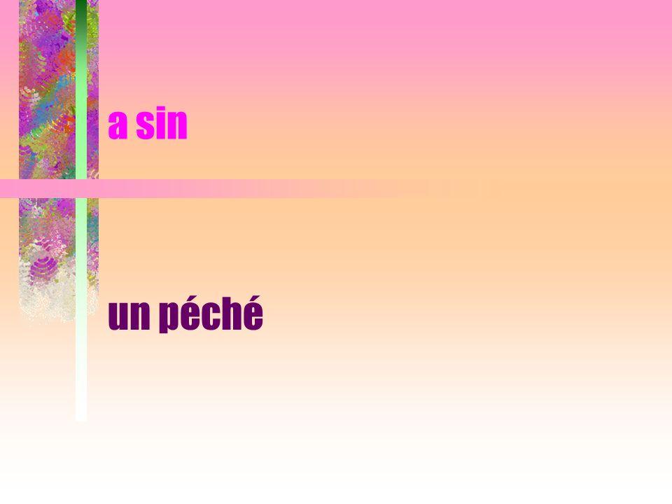 a sin un péché