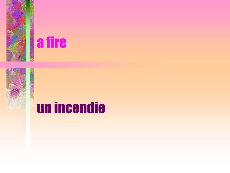 a fire un incendie