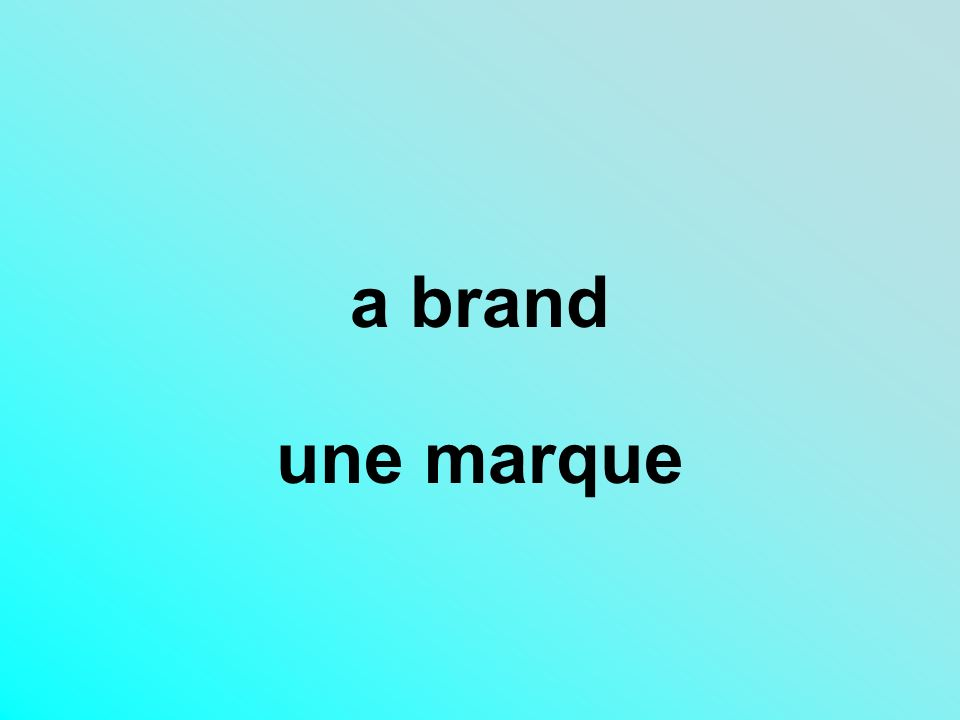 a brand une marque