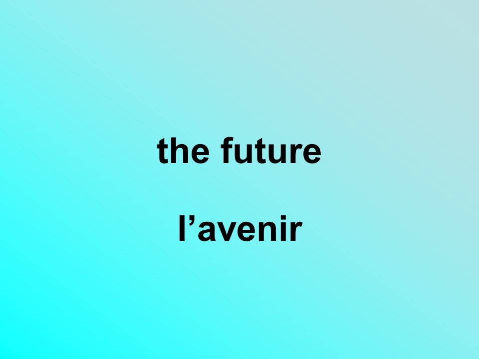 the future lavenir