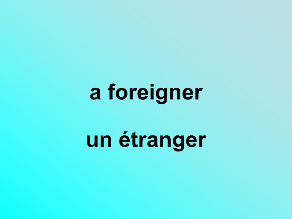 a foreigner un étranger