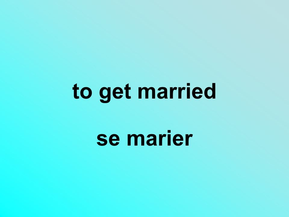 to get married se marier