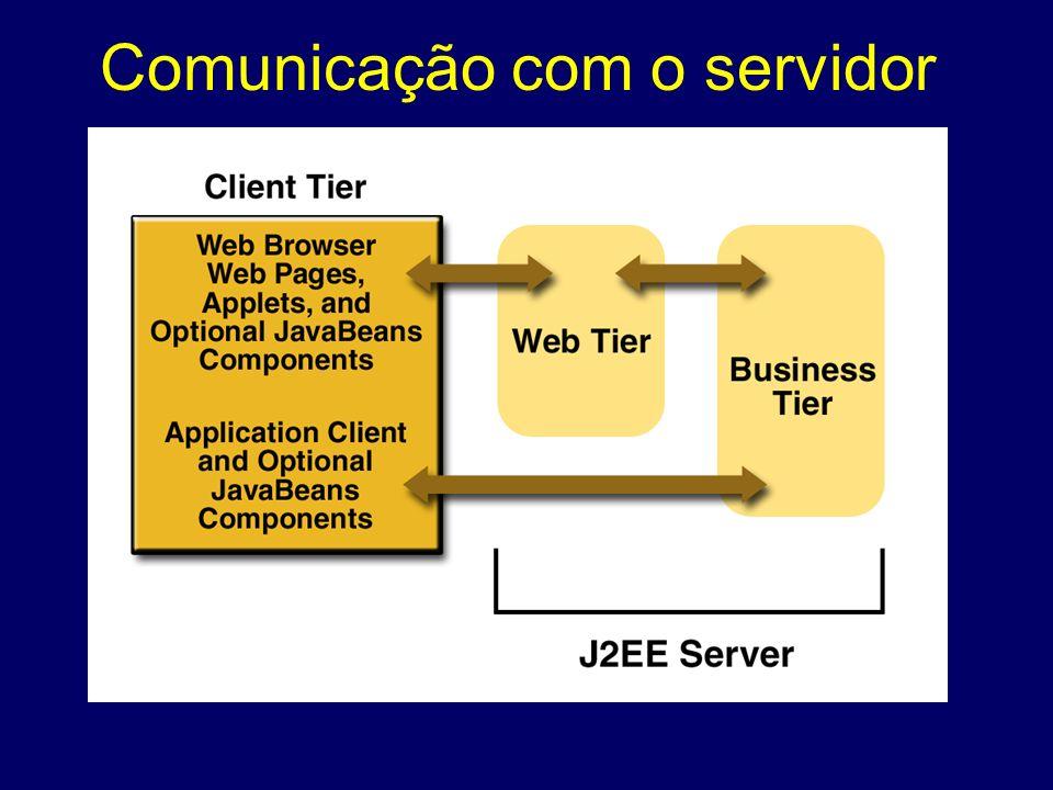 Comunicação com o servidor