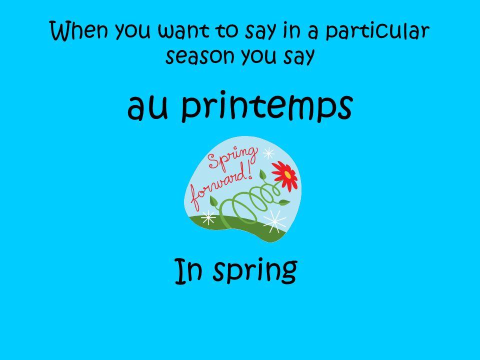 Les saisons Lhiver