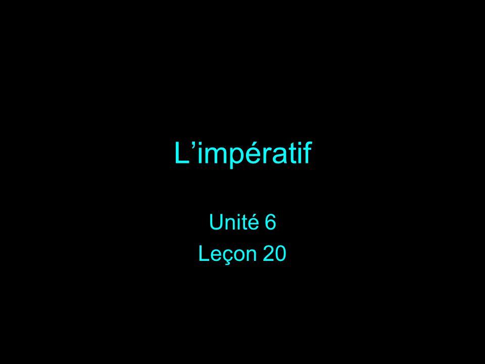 Limpératif Unité 6 Leçon 20