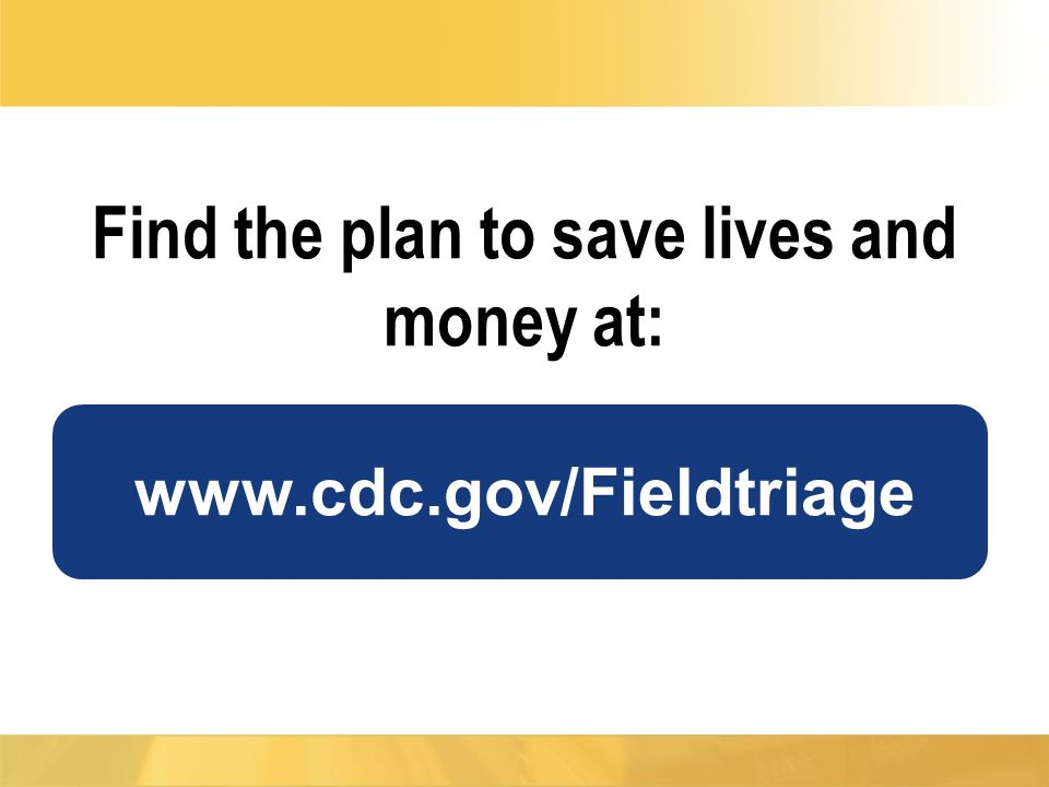 Find the plan to save lives and money at:
