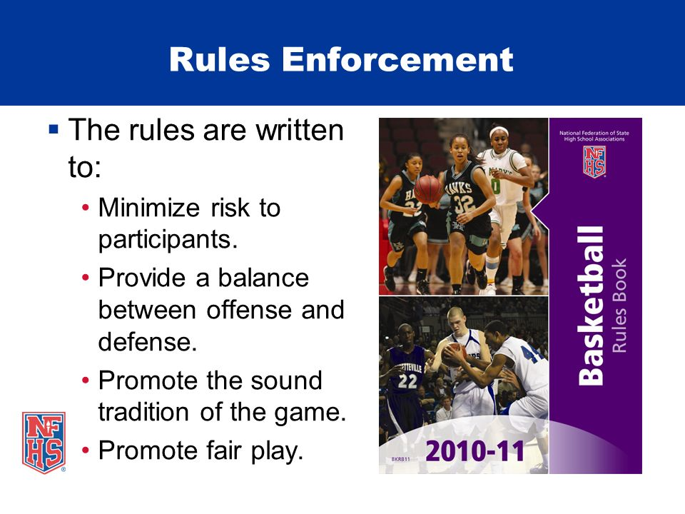 Rules Enforcement Illegal tactics that are permitted – are promoted.
