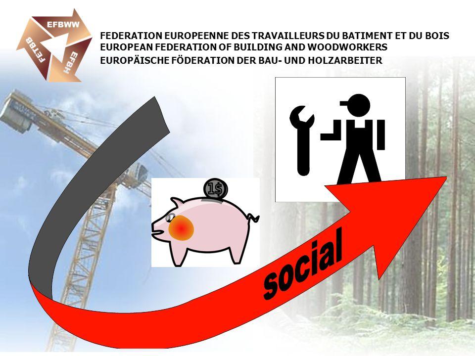 FEDERATION EUROPEENNE DES TRAVAILLEURS DU BATIMENT ET DU BOIS EUROPEAN FEDERATION OF BUILDING AND WOODWORKERS EUROPÄISCHE FÖDERATION DER BAU- UND HOLZARBEITER