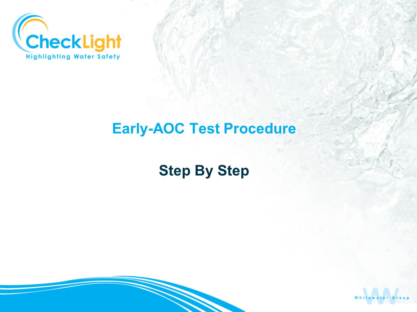 Early-AOC Test Procedure Step By Step