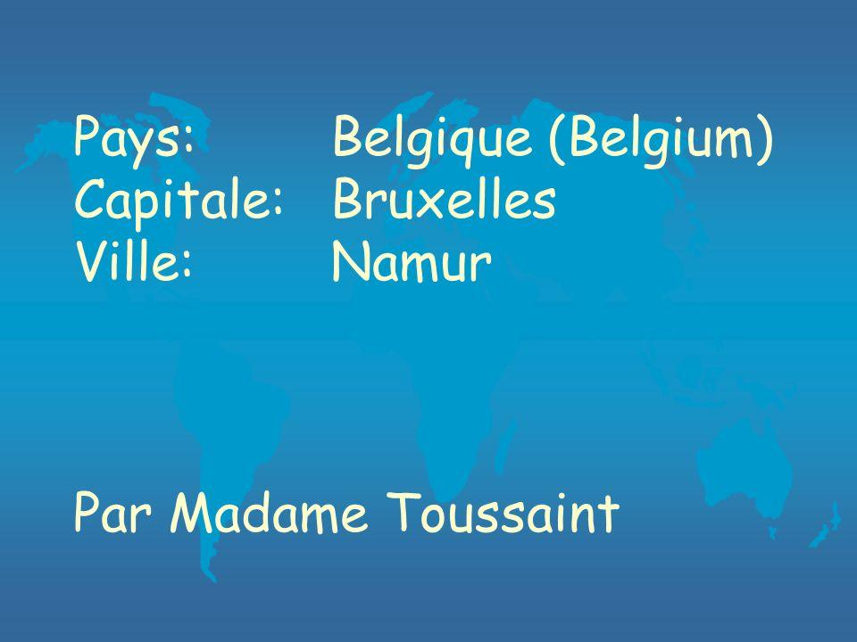 Pays:Belgique (Belgium) Capitale: Bruxelles Ville: Namur Par Madame Toussaint