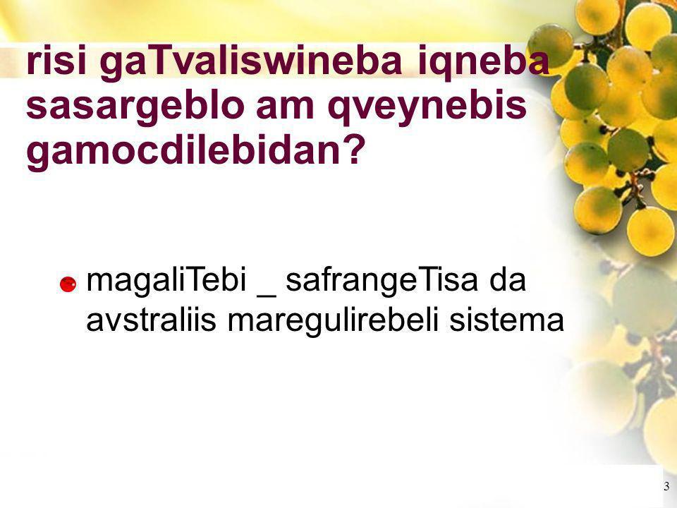 Cliquez et modifiez le titre Cliquez pour modifier les styles du texte du masque Deuxième niveau Troisième niveau Quatrième niveau Cinquième niveau 3 risi gaTvaliswineba iqneba sasargeblo am qveynebis gamocdilebidan.