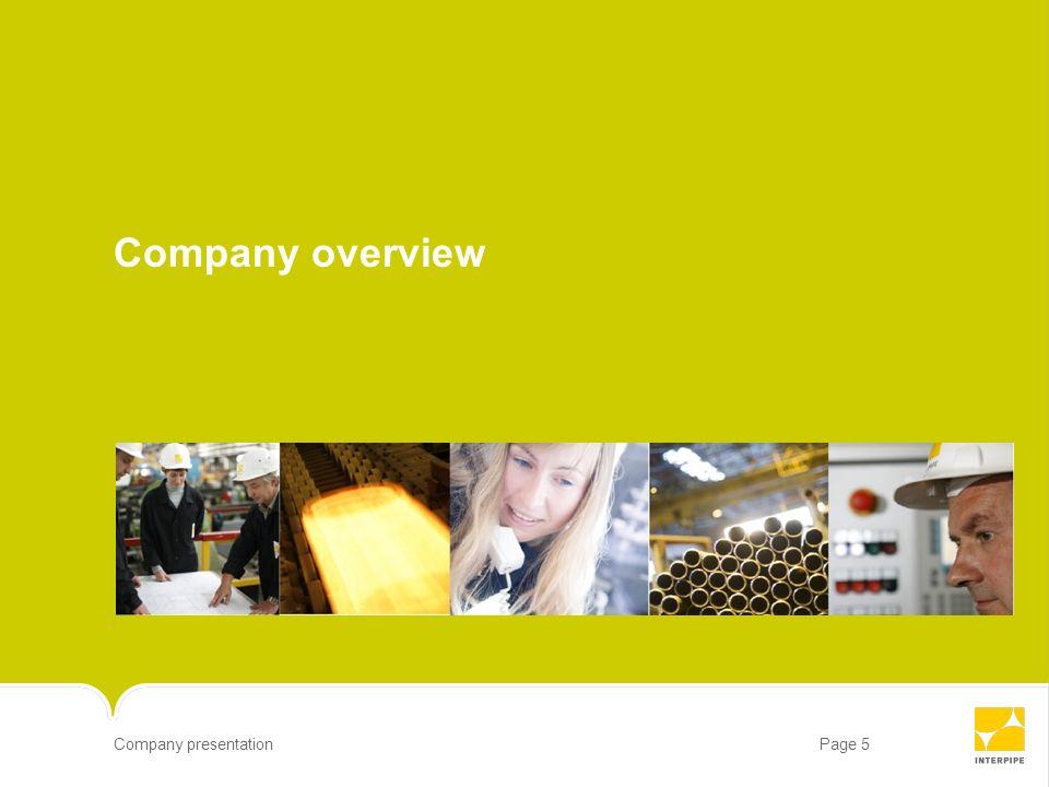 Page 5Company presentation Company overview