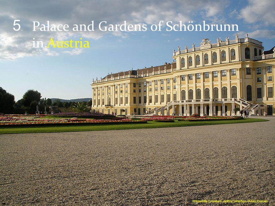 Palace and Gardens of Schönbrunn in Austria 5.5. Wikimedia Commons. Author: jvhertum. Public Domain