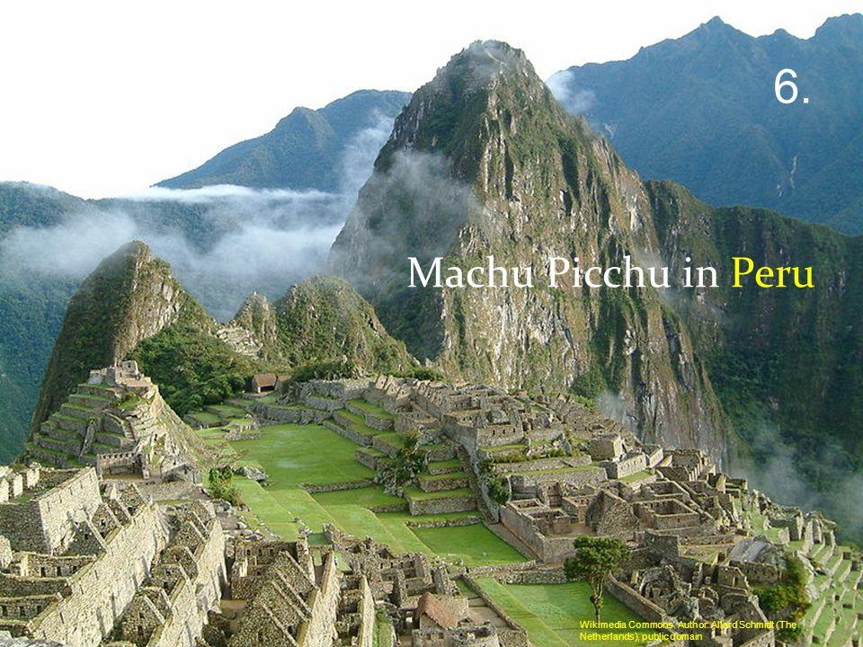 Machu Picchu in Peru 6. Wikimedia Commons. Author: Allard Schmidt (The Netherlands), public domain