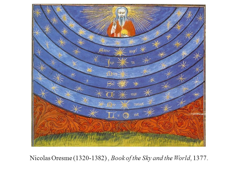 Nicolas Oresme (1320-1382), Book of the Sky and the World, 1377.